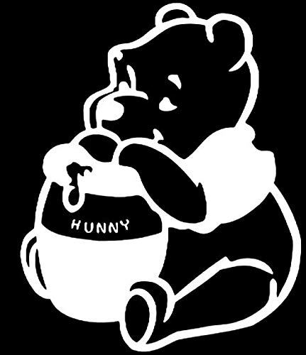 """Promenade Graphics Winnie The Pooh with Honey Vinyl Decal Sticker 