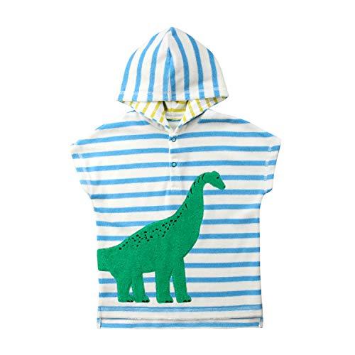 Carolilly - Albornoz de playa con capucha, diseño de dinosaurio, conejo, fresa, toalla de baño para niños de 1 a 6 años dinosaurio 3-4 Años ⭐