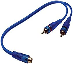 Absolute ABC-1F2M (Blue) Y-Adapter 1F-2M ABC Series RCA Interconnect Audio Cables (Certified Refurbished)