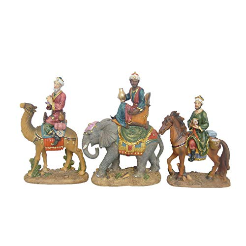 Nativity Three Kings Wise Men Figurines Three Kings on Animals Set(5 inch)