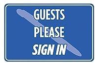 金属の錫のサインの壁の装飾、ゲストはサインインしてくださいサイン、家のための面白い警告サイン、金属の通知危険サイン、私有財産のサイン、庭の門のサイン
