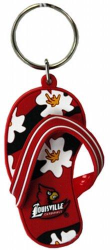Game Day Outfitters NCAA Louisville Cardinals Flip Flop PVC-Schlüsselanhänger