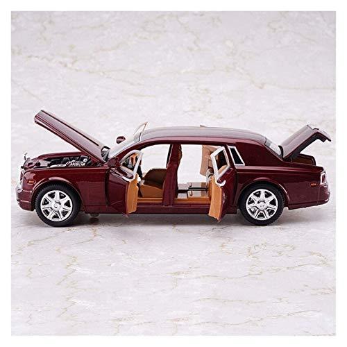 YYQIANG Modelo de aleación de automóviles colección de automóviles Juguete niño decoración rwolls rodyce hxgl-Car Modelo 1/24 simulación Original rollds-roycue Fantasma Sonido y Juguetes Ligeros Seis