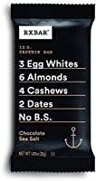 RXBAR, Chocolate Sea Salt, Protein Bar, Gluten Free 1.83 Ounce (Pack Of 24)