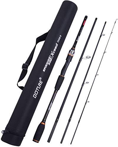 Goture Fishing Rod Bundle|Travel Fishing Rods 4Pcs and 4 PCS Spinning/Casting Rod