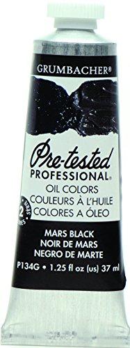 Grumbacher Pre-Tested Oil Paint, 37ml/1.25 Ounce, Mars Black (P134G)