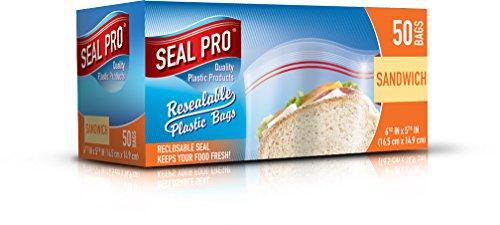 Sealpro - Bolsas de plástico con cierre hermético (50 ags)