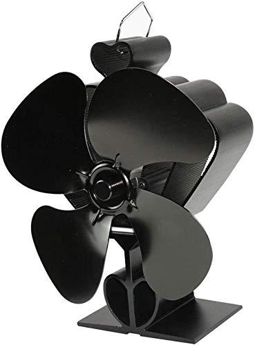 NAYY Holzofen Ventilator, Silent-Herd Fan4 Blades Geräuscharmer Betrieb for Holz/Holzofen/Kamin, Eco freundliche und effiziente Wärmeverteilung Wärme Powered Fan