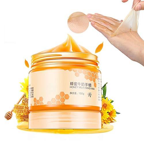 Hand Wachs, Honig Exfoliating Entfernen abgestorbene Haut Maske, Whitening Feuchtigkeitsspendende Hand- und Fusspflege Peeling Schwielen, Hand Maske Handschuh Feuchtigkeitscreme Handmaske