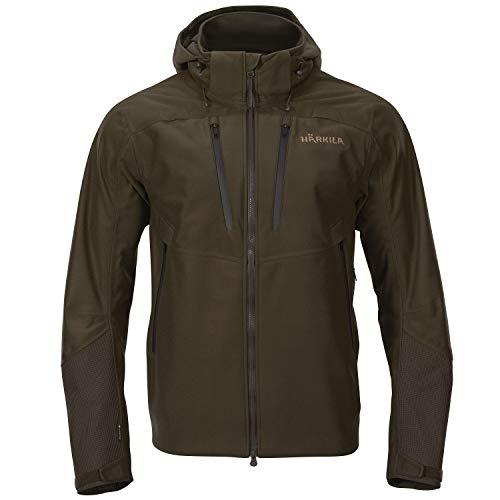 Härkila Mountain Hunter Pro Jacke - Wasserdichte Jagdjacke für die Bergjagd - Robuste Jacke für die Jagd mit Lüftungsschlitzen und verstellbarer Kapuze, Größe:50