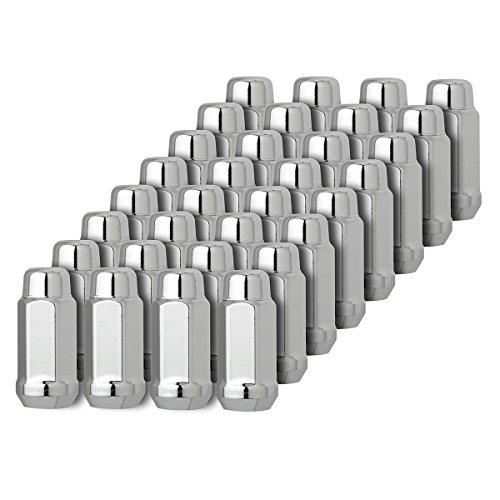 DPAccessories D3313-2305/32 32 Chrome 9/16-18 Closed End XL Bulge Acorn Lug Nuts - Cone Seat - 3/4' Hex Wheel Lug Nut