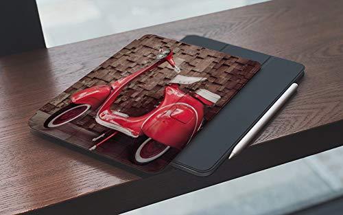 Funda para iPad 10.2 Pulgadas,2019/2020 Modelo, 7ª / 8ª generación,Vintage Retro Motocicleta Scooter nostálgico delante de la pared de tráfico de vehíc Smart Leather Stand Cover with Auto Wake/Sleep