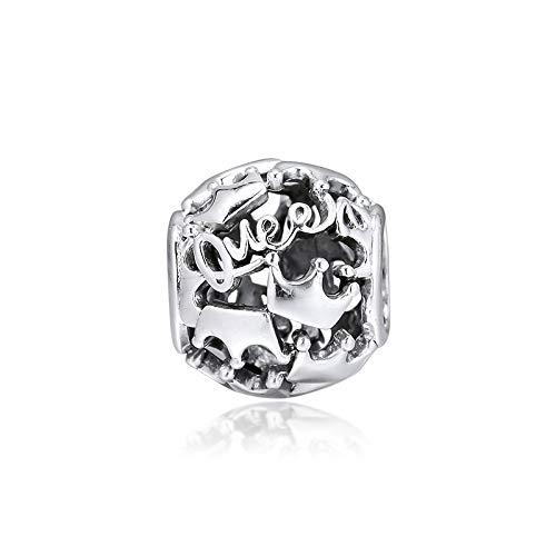 Joyería De Plata De Ley 925 para Mujer Cuentas De Abalorios De Corona Real De La Reina Que Se Adaptan A Las Pulseras De Pandora Europeas Collares Fabricación De Joyas DIY
