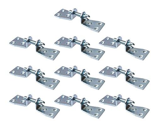 Gedotec Kastenschrauben Metall Universal-Möbelverbinder-Schrauben Verbindungsschrauben doppelt   Stahl verzinkt   Materialstärke 3 mm   10 Set - Arbeitsplatten-Verbinder zum Schrauben