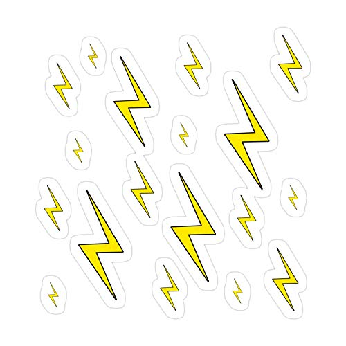 Donal Blus 3Pcs/Pack Lightning Bolt Scar Sticker for Laptop, Phone, Cars, Decal Vinyl Funny Stickers for Computers, Bumpers, Hydro Flasks, Water