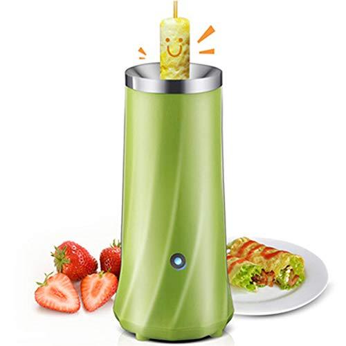 HEWE Egg Roll Machine, Elektrische Automatische Multifunktionsmini Egg Roll-Maschine Omelette Frühstück Eierkocher, Für Küche, Die Werkzeug Eierkocher,Grün