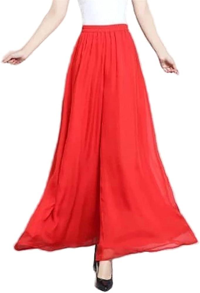 NP Women Wide Leg Color Culottes Pant Female Waist Thin Casual Culottes