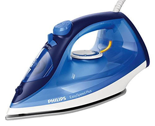 Philips EasySpeed Plus GC2145/20 - Ferro da stiro a vapore (2100 W, 110 g, suola in ceramica, blu)