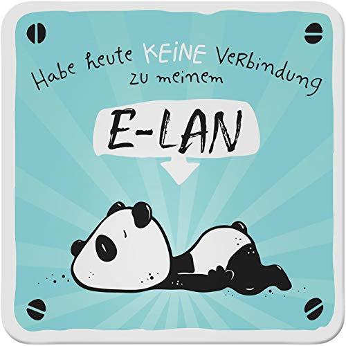 Sheepworld - 45658 - Untersetzer, Habe Heute Keine Verbindung zu Meinem E-LAN!, Kork, 9,5cm x 9,5cm