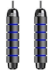 """WANGYI Saltar de la Cuerda se enreda con los rodamientos de Bolas rápida Velocidad comba de Cable y 6"""" Memory Foam Maneja Ideal for aeróbico (Color : Blue)"""