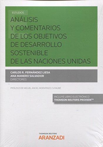 Análisis y comentarios de los objetivos de desarrollo sostenible de las Naciones Unidas (Papel + e-book) (Monografía)