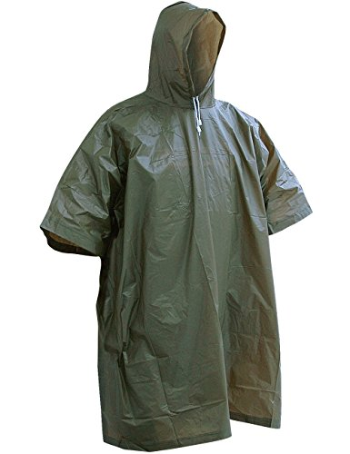 CN Outdoor Mcallister Poncho Regenhaut Umhang Regenschutz Regenponcho Angeln Jagd Wandern (Oliv)