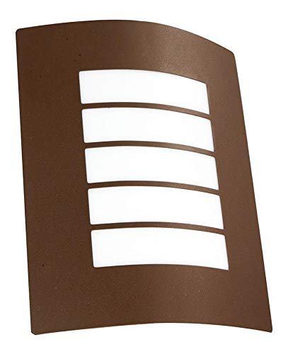 Aplique Pared Chocolate Acero Inoxidable Ip44 E27 40w 1 Luz