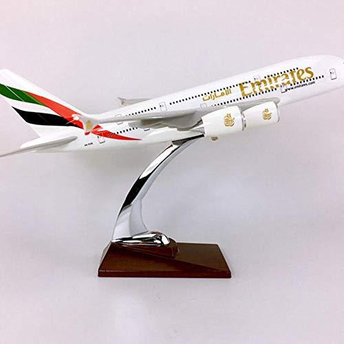 LKHJ Modello di Aereo Display da Collezione 36CM 1: 200 Airbus A380-800 Modello Base Aerea degli Emirati Arabi Uniti Lega da Collezione