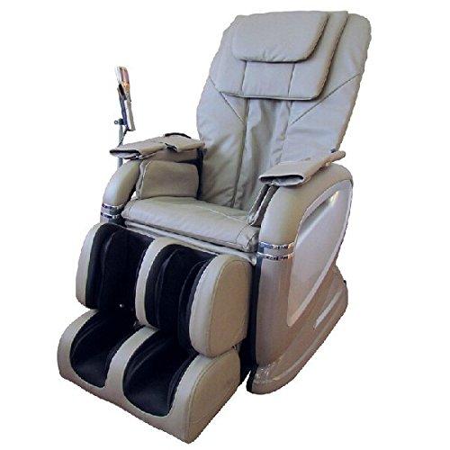 Bagno Italia Poltrona Relax reclinabile Massaggio shiatsu pressoterapia Riscaldamento in Ecopelle Panna o Nero