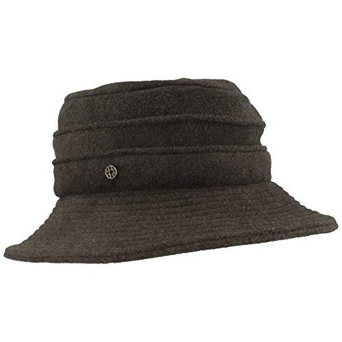 LOEVENICH Damen Winter-Hut | Fleece-Hut | Fischerhut aus weichem Polar Soft Fleece mit Biesen & verstärkter Krempe