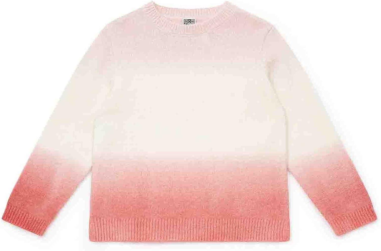 Bonton Tie-Dye Girls Lightweight Ombre Sweater