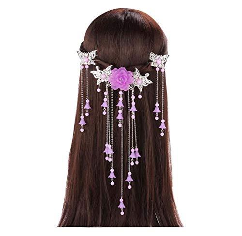 Longue épingle à cheveux à la main, accessoires anciens, coiffe Hanfu Cosplay, B04