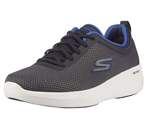Skechers GO Walk MAX Deluxe, Zapatillas Hombre, Black, 44 EU