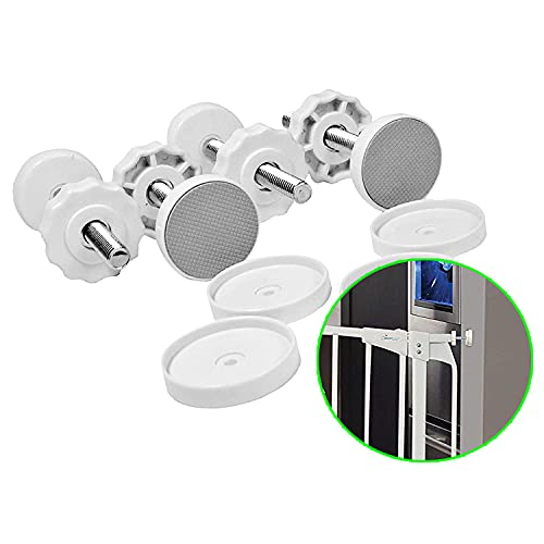 Dreambaby Baby Safety Gate Tension Bolt Replacement Kit - for Pressure Mounted Gates - White - 4 Pack - Model F956W
