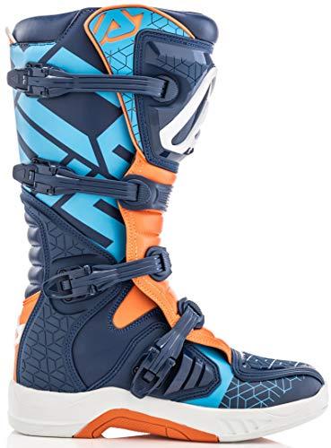 Acerbis X-Team Motocross Boots Blue/Orange 45