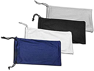 4 Glasses Gadgets Cleaning Storage Pouch Microfiber Sunglasses
