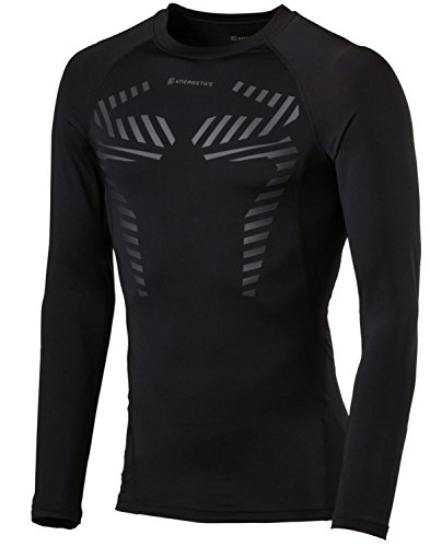 ENERGETICS Herren H-Longsleeve Dilios T-Shirt, Black, S