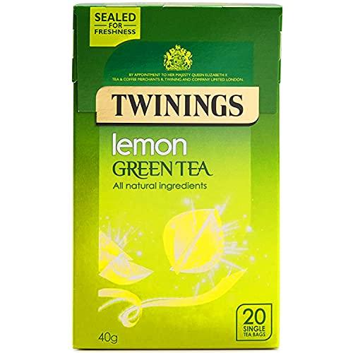 Twinings Lemon Green Tea 20 Single Tea Bags, 40g