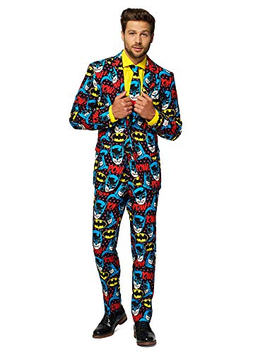 OppoSuits Herren The Dark Knight – Licensed Superhero Halloween Costumes for Men – Full Suit: Jacket, Pants and Tie Männeranzug, Mehrfarbig, 36