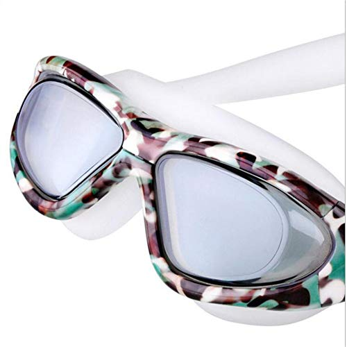 SUHXS Goggles, Adult Waterproof Anti-Fog Swimming Goggles, Leopard-Print Hd Swimming Goggles
