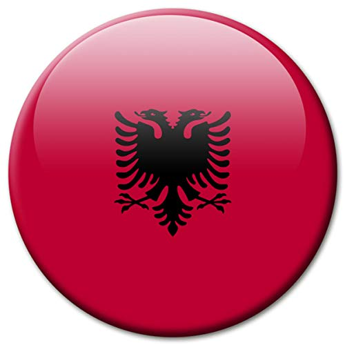 Kühlschrankmagnet Albanien Flaggen Magnet Länder Reise Souvenir Flagge für Kühlschrank stark groß 50 mm