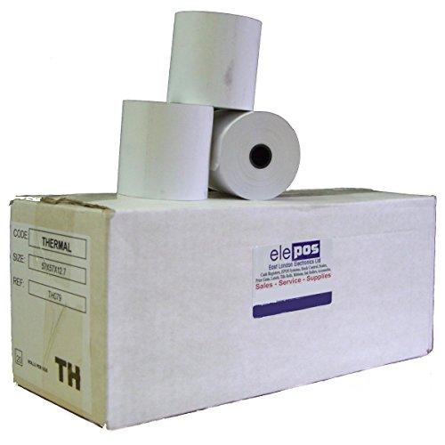 BPA Free EPOSGEAR 80 Rolls 57mm x 57mm 57x57 Thermal Paper Till Cash Register Machine Receipt Printer Rolls