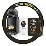 Krups KP100B Cafetera Dolce Gusto c谩psulas, 15 bares presi贸n, caf茅s, cappuccino, 1500 W, 0.6 litros + Nescaf茅 DOLCE GUSTO Variety Pack, 3 Estuches Espresso Intenso Y 3 Estuches Caf茅 Con Leche