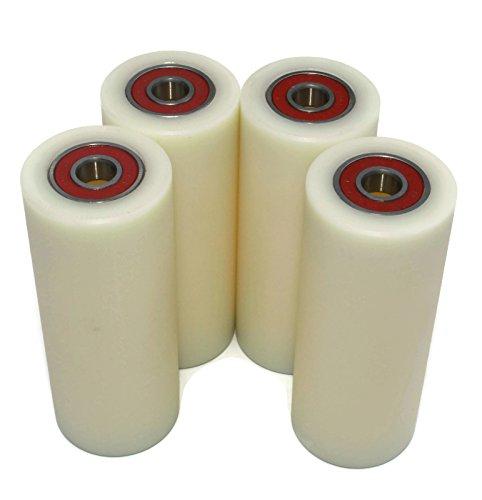 Nylon-Rollen 40-100-10, aus Polyamid, 40mm Durchmesser, 100mm breit, 10-mm-Lager, präzise gefertigt in der EU, 4Stück