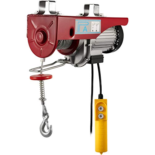 VEVOR Electric Hoist Lift 440LBS 200KG Overhead Electric Hoist 110V Electric Wire Hoist Remote Control Garage Auto Shop Overhead Lift