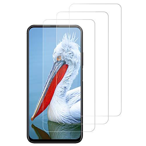 PUUDUU Cristal Templado para Huawei Honor 9X, Protector de Pantalla para Huawei Honor 9X, Vidrio Templado, Sin Burbujas, Anti-Rasguños, Alta Definicion, HD Transparente - [3 Pack]