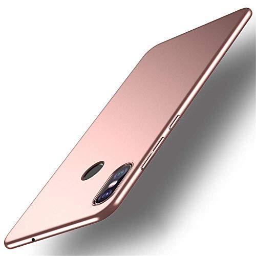 """XMTN Xiaomi Mi MAX 3 6.99"""" Funda, Cubierta Delgado Caso de PC Hard Gel Funda Protective Case Cover para Xiaomi Mi MAX 3 Smartphone (Rosa Claro)"""
