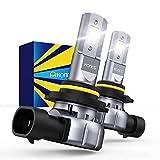 HONCS H10/9145/9140/9045 LED Fog Light Bulbs, 300% Brighter 6500K Cool White LED Fog Light Halogen Replacement For Cars, Pickups, Pack of 2