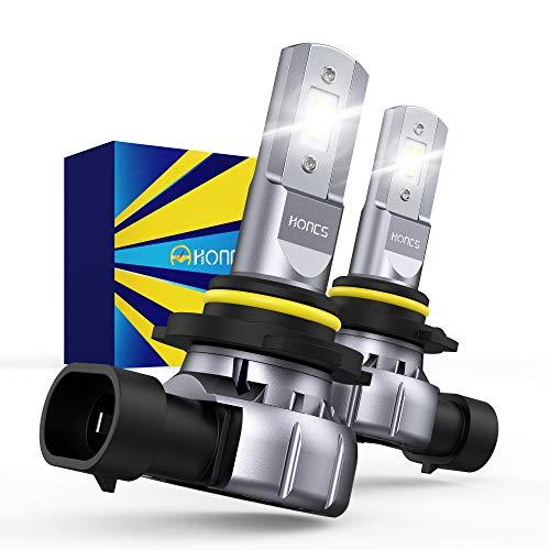 HONCS H10 9145 9140 9045 LED Fog Light Bulbs, 300% Brighter 6500K Cool White LED Fog Light Halogen Replacement For Cars, Pickups, Pack of 2