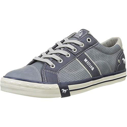 MUSTANG Damen 4072-301 Sneaker, Blau (875 Sky), 44 EU